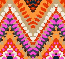Bohemian print with chevron pattern in bright colors by tukkki