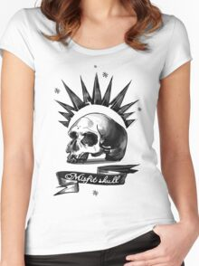 Misfit Skull White Women's Fitted Scoop T-Shirt