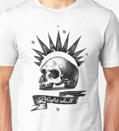 Misfit Skull White Unisex T-Shirt