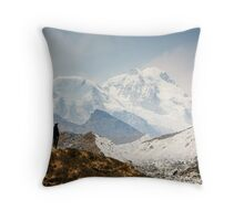 Looking at the Himalayas Throw Pillow