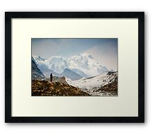 Looking at the Himalayas Framed Print