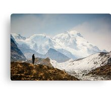 Looking at the Himalayas Canvas Print
