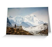 Looking at the Himalayas Greeting Card