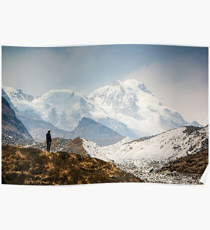 Looking at the Himalayas Poster