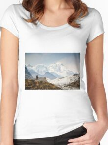 Looking at the Himalayas Women's Fitted Scoop T-Shirt