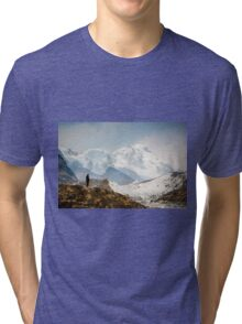 Looking at the Himalayas Tri-blend T-Shirt