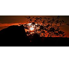 Shepherd's Delight, Red Sky at Night Photographic Print