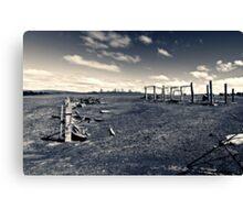 Plains wreck Canvas Print