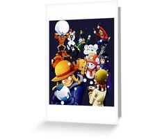 one piece luffy zoro snow fight anime manga shirt Greeting Card