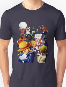 one piece luffy zoro snow fight anime manga shirt T-Shirt