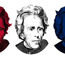 Andrew Jackson Red, White, and Blue by warishellstore