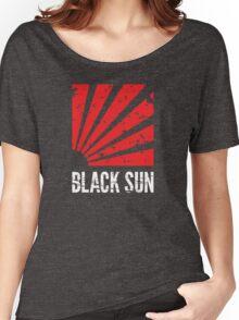 Black Sun T-Shirt Women's Relaxed Fit T-Shirt