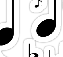 Music symbols and notes Sticker