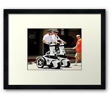 Robo Cops? Framed Print