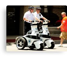 Robo Cops? Canvas Print