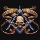 Freemason and skull  by BlueLine LEO