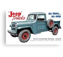Jeep Trucks Canvas Print