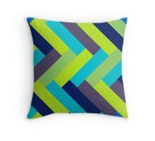 Peacock Colors Rectangle Pattern Throw Pillow