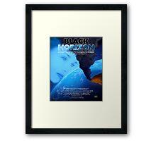BLACK HORIZON Framed Print