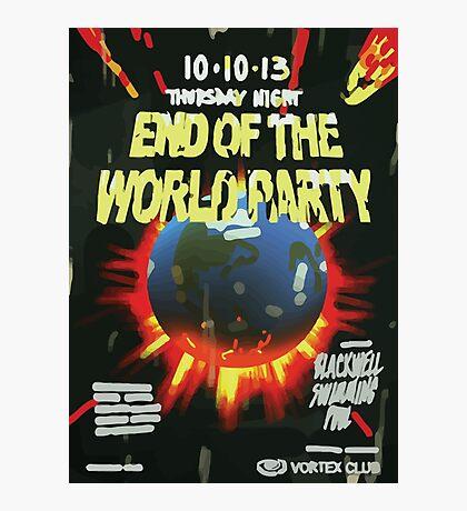 Vortex Club - End of the World Vortex Club Poster  Photographic Print