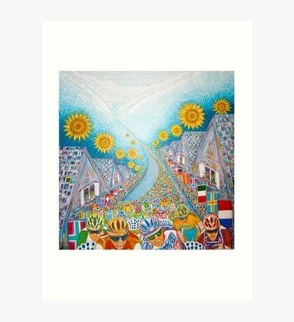 Le Tour de France. Art Print
