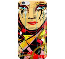 Beautiful Colorful Abstract Digital Art -- Crying Girl iPhone Case/Skin