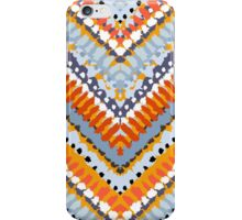 Bohemian print with chevron pattern in natural colors iPhone Case/Skin