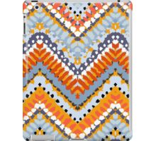 Bohemian print with chevron pattern in natural colors iPad Case/Skin