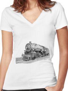 Locomotive Women's Fitted V-Neck T-Shirt