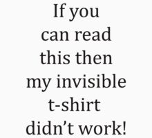 Invisible shirt by connor95