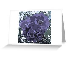 Soft Tone Floral Abstract Lavender Greeting Card