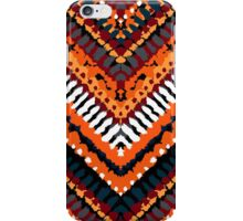 Bohemian print with chevron pattern in fall colors iPhone Case/Skin