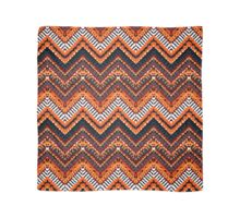 Bohemian print with chevron pattern in fall colors Scarf