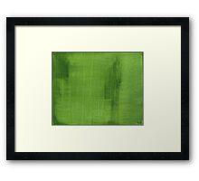 Cut Grass Framed Print