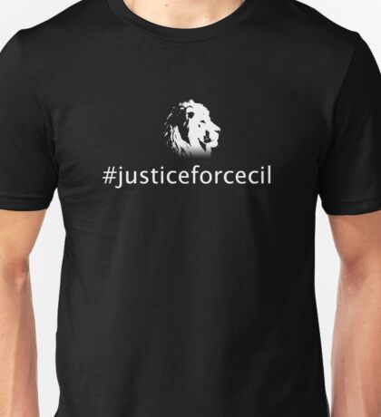 Justice For Cecil Unisex T-Shirt