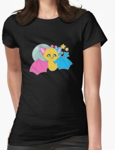 Pansexual Pride Bat Womens Fitted T-Shirt