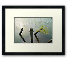 River sun dial  Framed Print