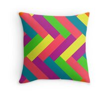 Juicy Tropical Colors Rectangle Pattern Throw Pillow