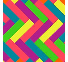 Juicy Tropical Colors Rectangle Pattern Photographic Print