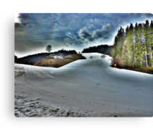 On The Piste  Canvas Print