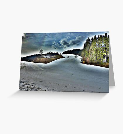 On The Piste  Greeting Card