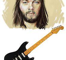 David Gilmour - Black Strat by Firewallmud