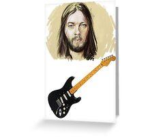 David Gilmour - Black Strat Greeting Card