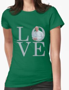 Love with Pope Francis Womens Fitted T-Shirt