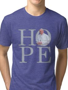Hope with Pope Francis Tri-blend T-Shirt