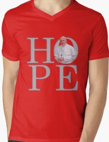 Hope with Pope Francis Mens V-Neck T-Shirt