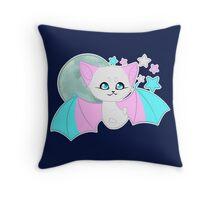 Transgender Pride Bat Throw Pillow