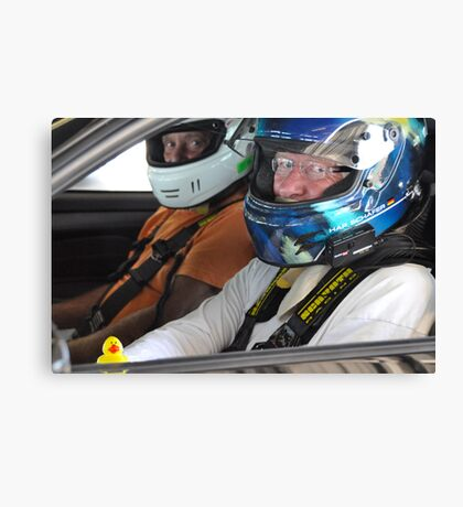 Guess who goes racing?! Canvas Print