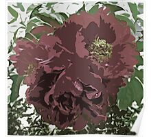 Muted Tone Flowers Abstract Poster