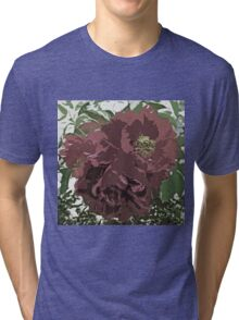 Muted Tone Flowers Abstract Tri-blend T-Shirt